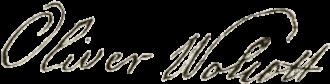 Oliver Wolcott - Image: Oliver Wolcott signature