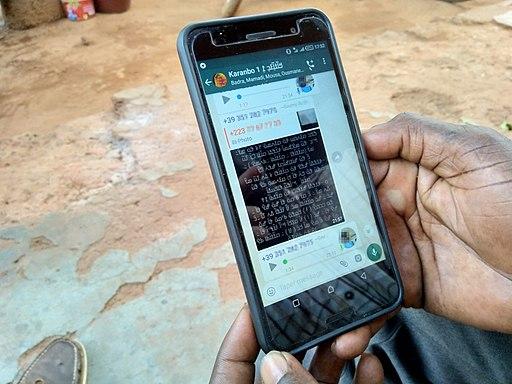Online N'ko classroom via WhatsApp