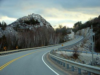 Ontario Highway 6 - Looking south on Highway 6 through the La Cloche Mountains near Whitefish Falls