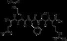 Kemia strukturo de Opiorphin.