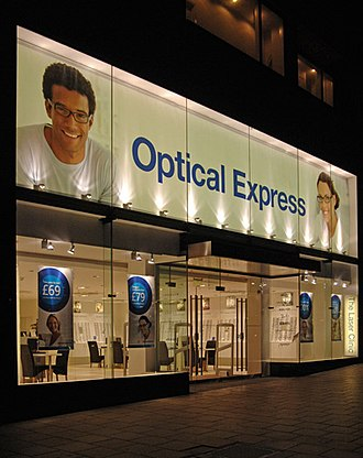 Optical Express - An Optical Express store.