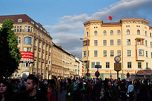 Kreuzberg - Oranienplatz on Labour Day