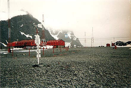 Orcadas Base, with a Spanish speaking population, is the oldest of the stations in Antarctica still in operation. Orcadas Base.jpg