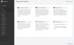 Orchard 1.4 Dashboard