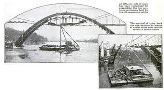 Oregon City Bridge - Image: Oregon City Bridge Under Construction