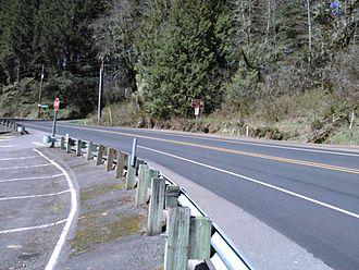 Oregon Route 214 - The highway in Silver Falls State Park