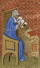 Nicole Oresme, a prominent medieval scholar.  Duhem came to regard the medieval scholastic tradition as the origin of modern science