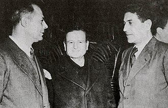 Italian General Confederation of Labour - The three CGIL leaders, Lizzardi, Grandi and Di Vittorio, in 1945.