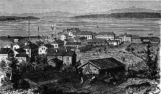 Örnsköldsvik - Illustration of Örnsköldsvik in 1861