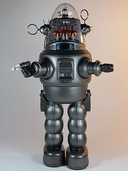 Osaka Tin Toy Institute – Tin Age Collection – Robby the Robot with Blaster – Front