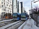 Oslo tram line 18 at Bjørvika 02.jpg