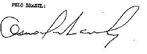 Osvaldo Aranha - Image: Osvaldo Aranha Signature