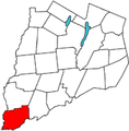 Otsego County outline map Unadilla red.png