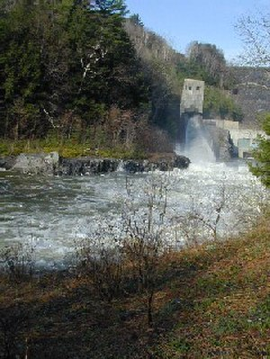 Ottauquechee River - The Ottauquechee River flowing from a hydroelectric facility downstream of North Hartland Lake. Hartland