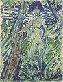 Otto Mueller - Stehender weiblicher Akt zwischen Bäumen - ca1927.jpeg