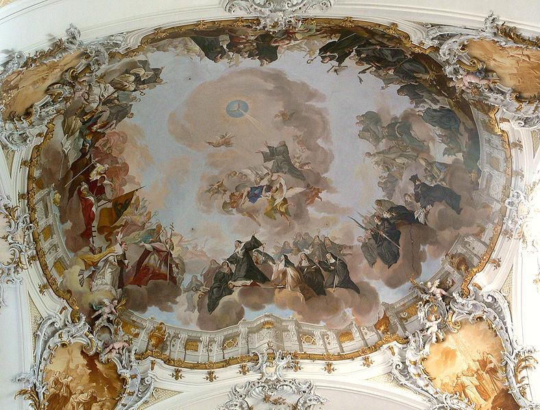 File:Ottobeuren Langhausgewölbefresko Glorie des hl Benedikts.jpg