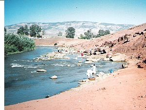 Water supply and sanitation in Morocco - The Oum Er-Rbia River in central Morocco is the country's longest river. Besides being an important source of water for irrigation, it supplies most of the drinking water for the country's largest city, Casablanca