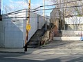 Outbound stairs at East Lynn station site, April 2015.JPG