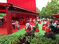 Outdoor seating at Serpentine Gallery Pavilion 2010 - geograph.org.uk - 1983600.jpg