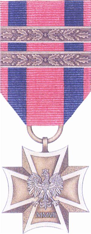 Military Cross (Poland) - Image: POL Krzyz Wojskowy 2x awers