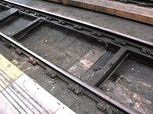 Baulk road - Modern baulk road at London Paddington station