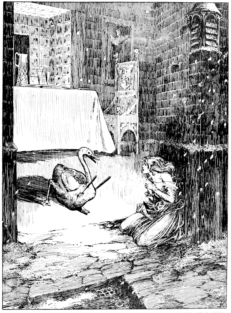 Page 187 illustration in fairy tales of Andersen (Stratton)
