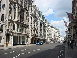 Pall Mall, London street in London, England