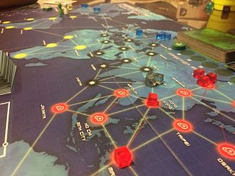 Pandemic (board game) - A game in progress