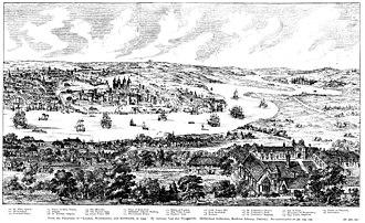 "Panorama of London - Wyngaerde's ""Panorama of London in 1543"""