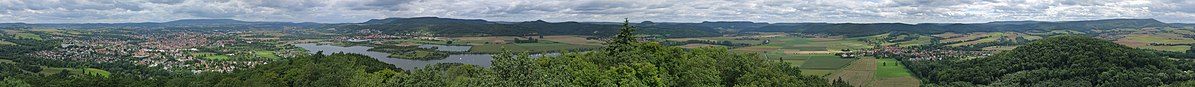Panoramiv view from the Großer Leuchtberg near Eschwege in Hesse