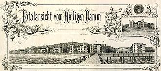 Heiligendamm - Panorama of Heiligendamm, 1887