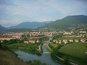 Rovereto - Panorama of Rovereto, with Monte Cengialto (on the right)