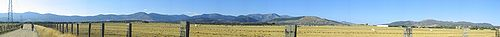 Panoramic view of the Sierra de Guadarrama (Spain)