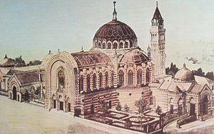 Basilica of Nuestra Señora de Atocha - Original project by Fernando Arbós y Tremanti for the basilica, belltower, and pantheon.