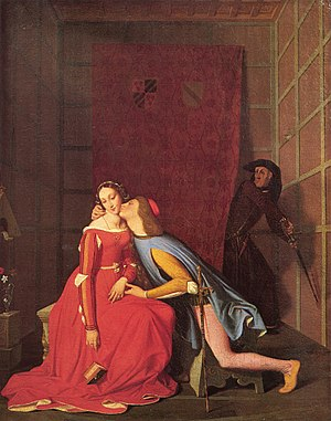 Paolo and Francesca (Ingres) - The Angers version