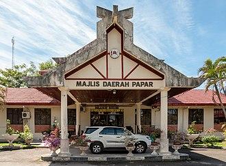 Papar District - Papar District Council office.