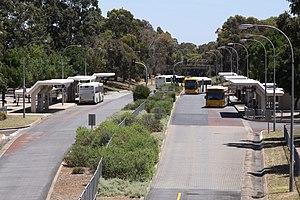 Paradise Interchange - Looking over Paradise Interchange towards the Adelaide city centre