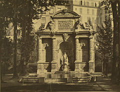 Paris. Médicis Fountain, Gardens of the Palais du Luxembourg, 1857.jpg
