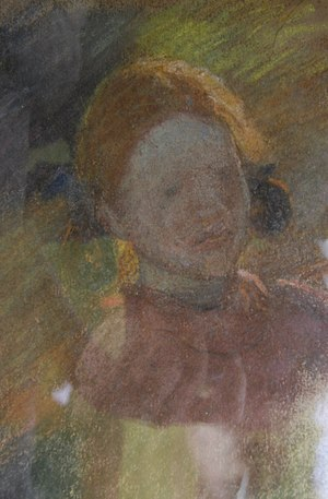 Amberley, West Sussex - Detail of a pastel by Edward Stott (1859–1918).