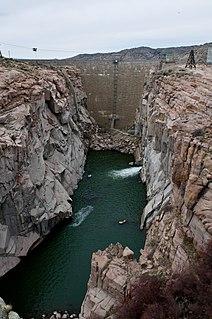 Pathfinder Dam dam in Natrona County, Wyoming, USA