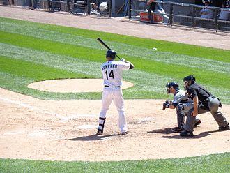 Paul Konerko - Paul Konerko batting against the Detroit Tigers in 2012