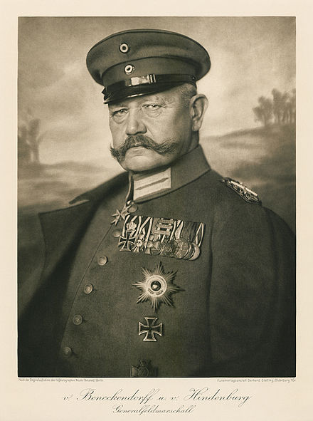 Paul von Hindenburg.  He put Hitler in power.  But he did have a nice mustache., From WikimediaPhotos