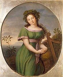 As Malvina in Étienne Méhul's opera Uthal, painting by Friedrich Wilhelm von Schadow (Source: Wikimedia)