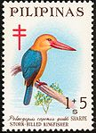 Pelargopsis capensis 1967 stamp of the Philippines.jpg
