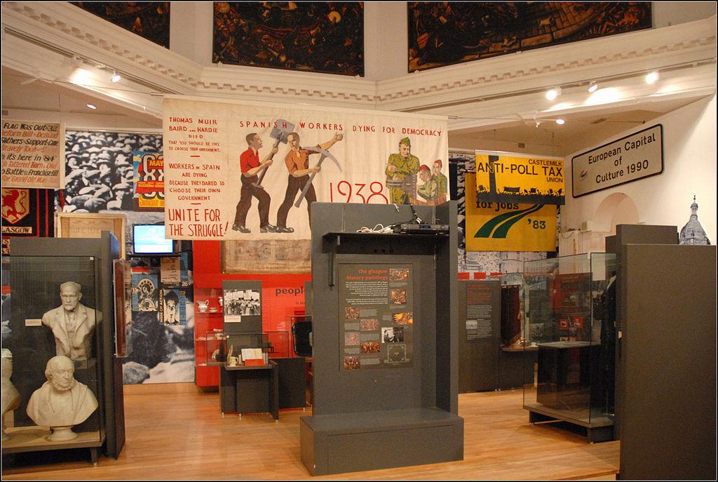 La salle des grands évènements de Glasgow et des luttes ouvrières. Photo de Jean Pierre Dalbéra.