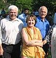 Peter Tabuns, Marilyn Churley and Jack Layton at a South Asian Unity Picnic - 2008.jpg