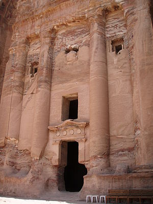 Petra - One of the many tombs in Petra