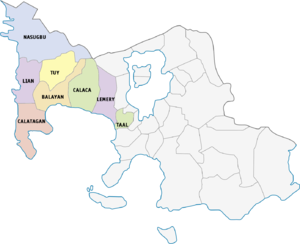 Legislative districts of Batangas - 1st district of Batangas