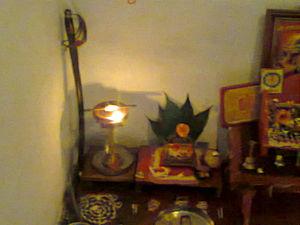 Mahur, Maharashtra - Ashwin Navratra Puja of Renuka Devi at a devotee's home
