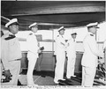 Photograph taken during a vacation cruise of President Harry S. Truman to Bermuda. L to R on bridge of the yacht... - NARA - 198630.tif
